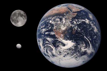 Dünya, Ay ve Ceres