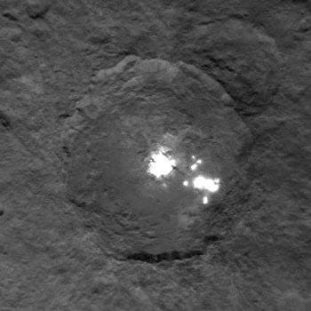Cüce Gezegen Ceres ve Gizemli Parlak Bölgeleri
