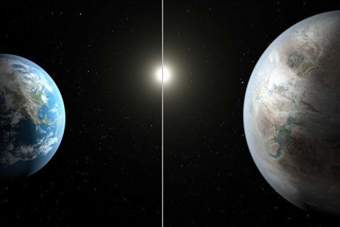 Dünya ve Kepler-452b karşılaştırması