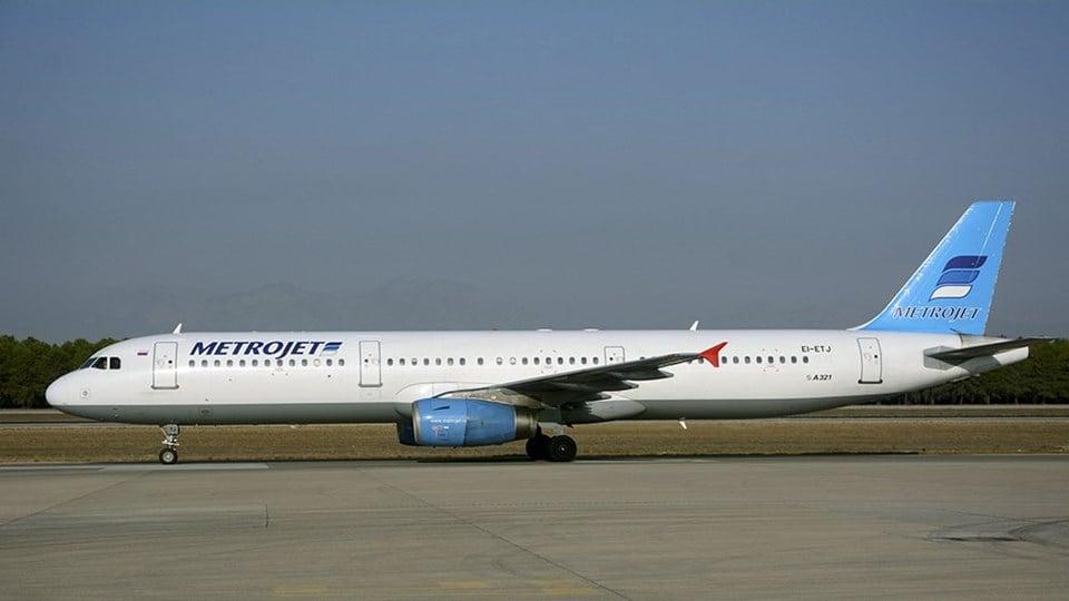 Düşen Metrojet uçağının Antalya Havalimanı'nda çekilen fotoğrafı.