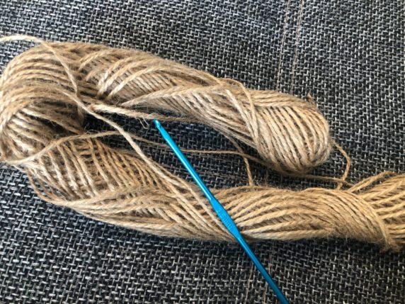 Джутовая нить для вязания шнурка крючком