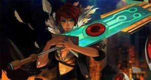 Red holding The Transistor (Source: download.gamezone.com)