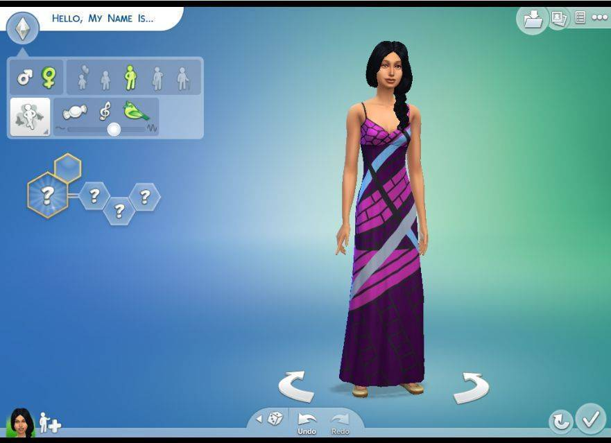how to go to create a sim in sims 4
