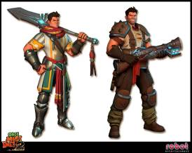 The War Mage first and second game (1st left 2nd right)