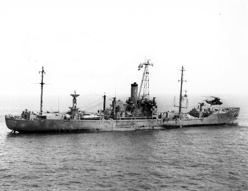 USS Liberty after attack