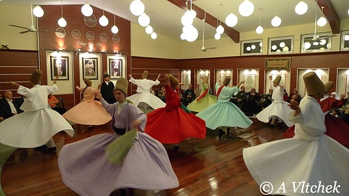Whirling Dervishes in Istanbul, like the current government
