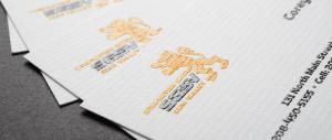 Carti de vizita imprimate in relief