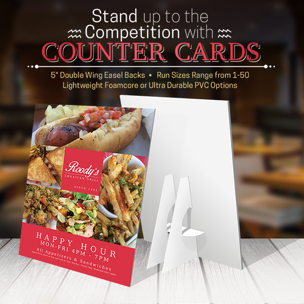 Counter Cards Printing Services