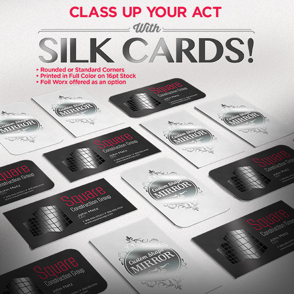 Custom Silk Business Card Printing