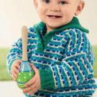 Вязание для малышей. ПОЛОСАТЫЙ ПУЛОВЕР СПИЦАМИ