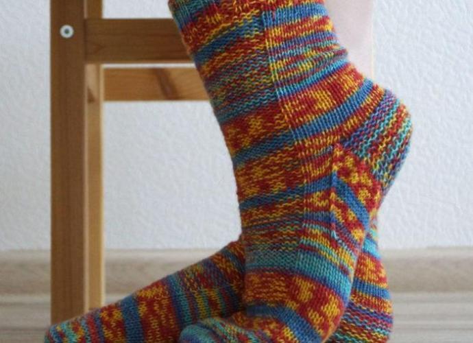 Классические носки спицами, мастер класс + видео