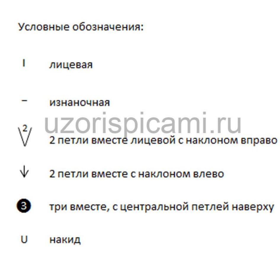 Схема вязания спицами, ажурный и волнистый