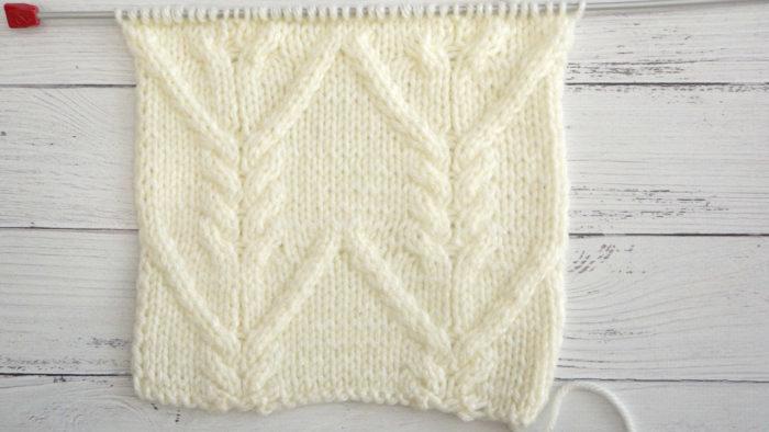 Схема вязания спицами косы и переплетения шапки, шарфа, снуда + видео