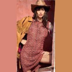 Вязание для женщин. ПЛАТЬЕ СПИЦАМИ С АЖУРНЫМ УЗОРОМ