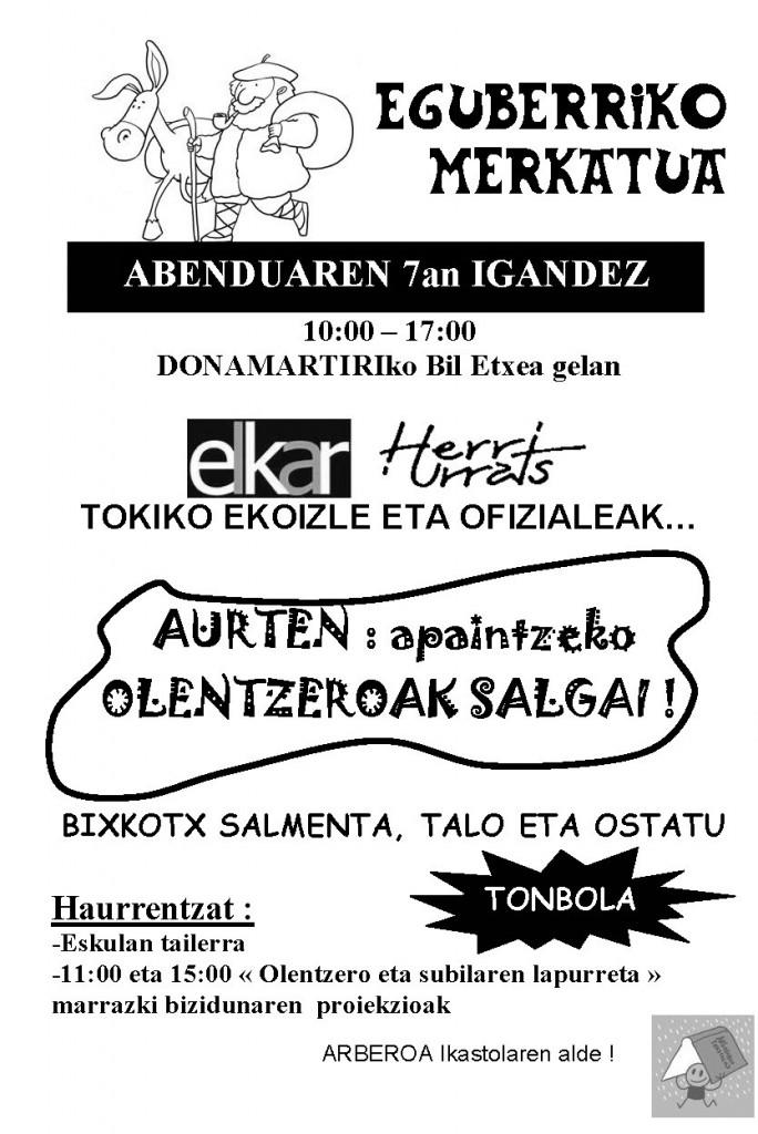 EGUBERRIKO MERKATUA 2014 - afitxa
