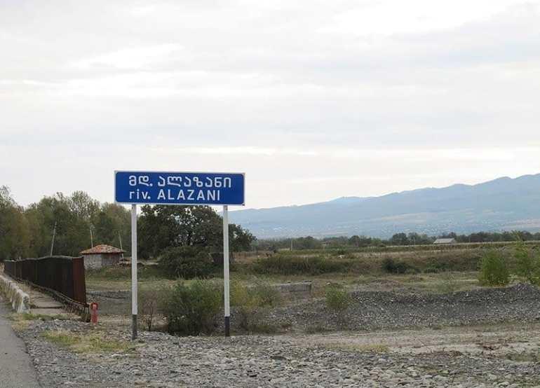 reka Alazani ukazatel