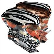 """""""Glamour n° 105 : Les new codes ultra-mode"""", Réinterprétation dimensionnelle n° r_412, vue isométrique, tirage sur toile, 110 x 110 cm, 2013"""