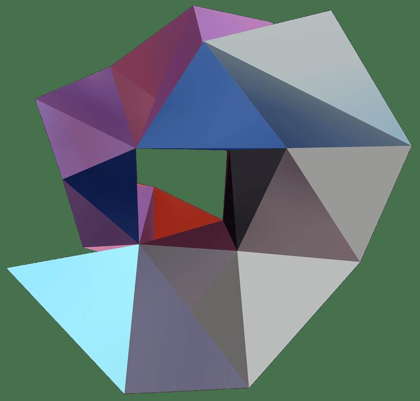 """""""RER C, II"""", Réinterprétation dimensionnelle n° r_377-2 bottom, 2016"""