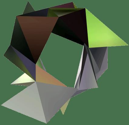 """""""Arbres et lampadaires stade Carpentier"""", Réinterprétation dimensionnelle n° r_379-2 c3, 2016"""