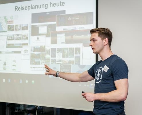 Patrick Häde von Mapify auf der Travel Start-up Night München