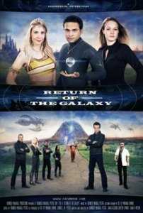 The V Return of the Galaxy Saga Poster. Featuring The V, Abrida, Princess Celestia. Professor Engfield Professor Adam Schulman. Agent X, Agent Zero, Seven and Alexis.