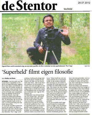 2012 De Stentor  'Superheld' filmt eigen filosofie