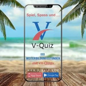Mit V-Quiz können Sie Lückenzeiten nutzen - z.B. im Urlaub und Ihre IDD Weiterbildungsstunden erfüllen