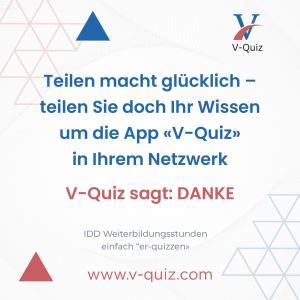 Erhalten Sie Ihre IDD Punkte mit einer App. Testen Sie V-Quiz kostenlos