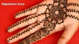Mehndi Design Simple Arabic Easy