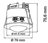 Sensors: PIR Ceiling Sensor White 360°