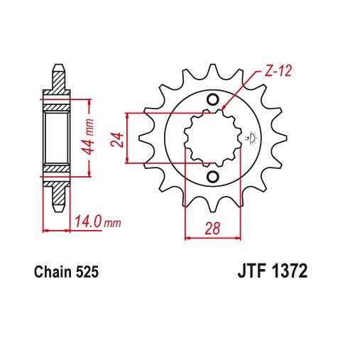 Звезда ведущая JT JTF1372