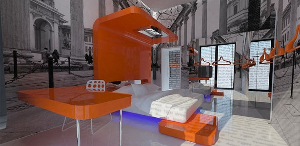 Os móveis do hotel de luxo em Milão foram construídos sob medida e criados para o projeto