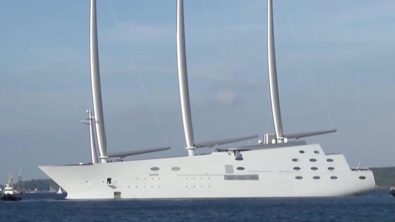 Meet Sailing Yacht A And Its Big Ben Sized Masts The Weather Channel Articles From The Weather Channel Weather Com
