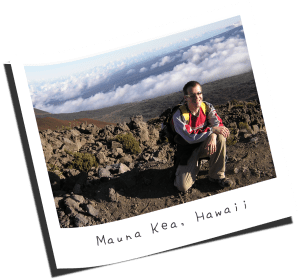 Approaching the summit of Mauna Kea in Hawaii.