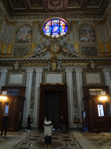 Inside the entry of St Mary Major