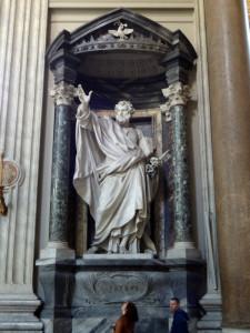 Sculpture of St Peter in St John Lateran