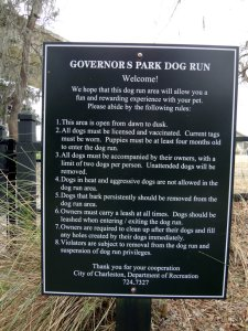 Governors Park dog park rules