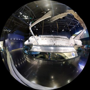 Shuttle Atlantis fish eye panorama