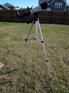 On the tripod