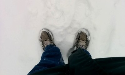 Almost ankle deep snow