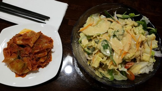Thai East Fusion Salad and Kimchi