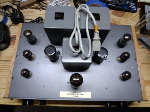 Audio amp top view