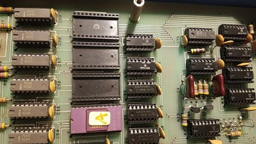 EPROM chip in the Altair 680. Appears to be room for 3 more EPROMs.