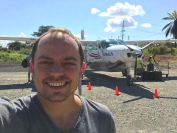Cessna Caravan: Guilherme Spina quase a bordo.