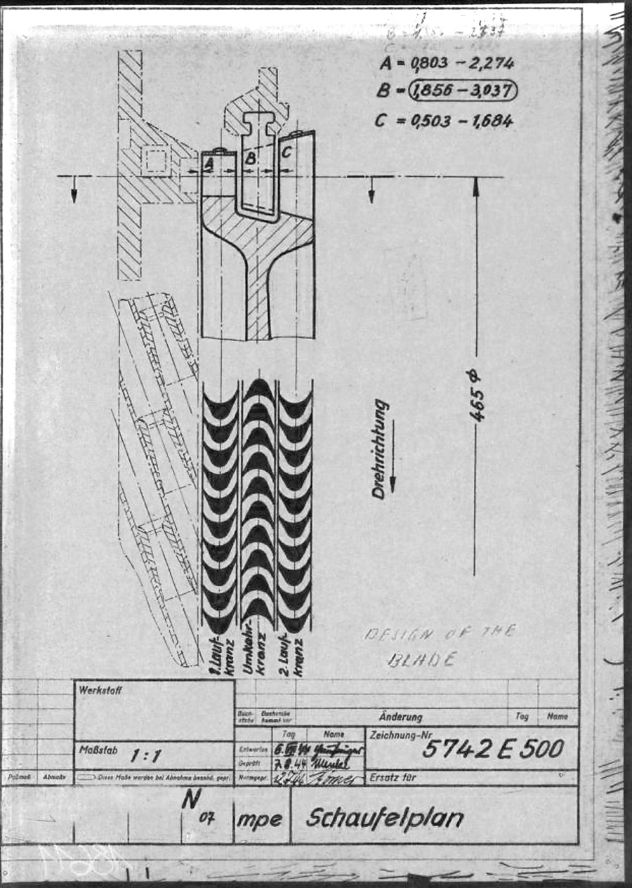 hight resolution of a4 v2 steam rotor blade design and position 5742 b 1944