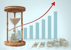 rising chart showing money and time 300x212 - Do the Math: Downtime Costs Your Business Money