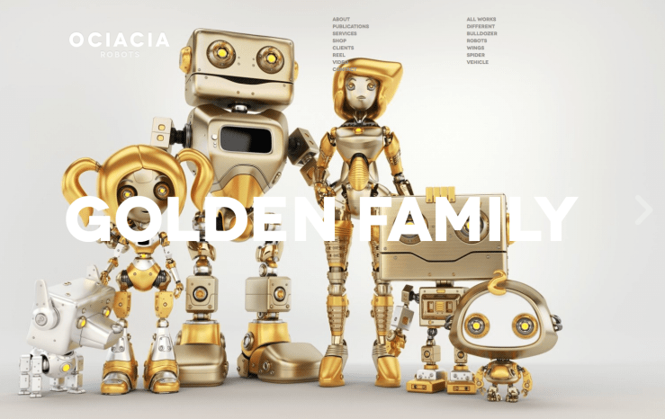 Golden Robot Family