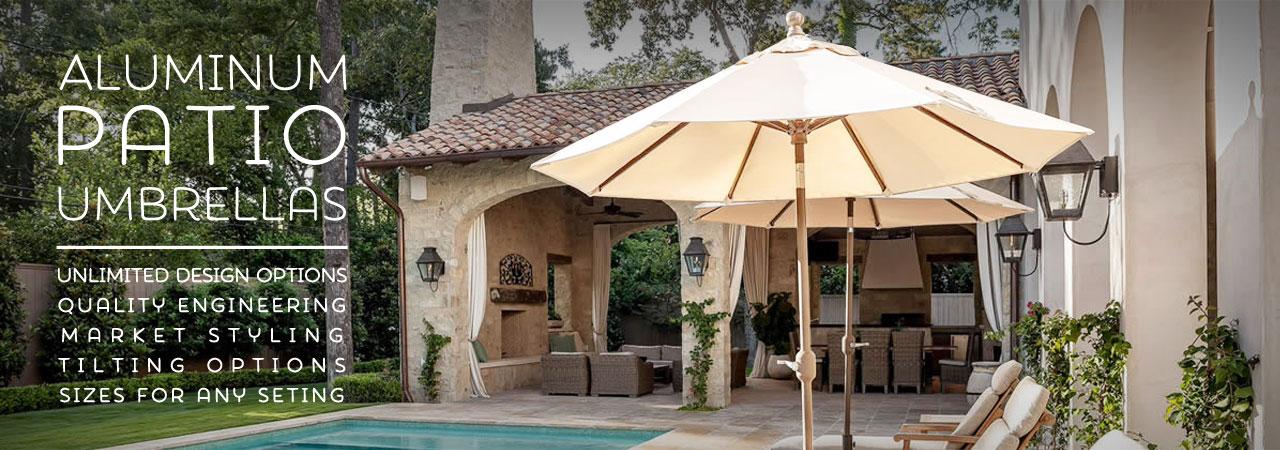 aluminum patio umbrellas aluminum