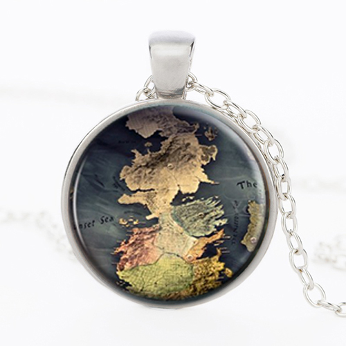 Game of Thrones Westeros Map Necklace - V7 Map Jewelry on map party decor, map blouse, map linens, map engraving, map gift wrapping, map of nashville necklace, map drapes, map end tables, map throw blanket, map items, map pouf, map sweatshirt, map vest, map party favors, map pendant necklaces, map name tags, map art, map wall artwork, map necklace diy, map gift tags,