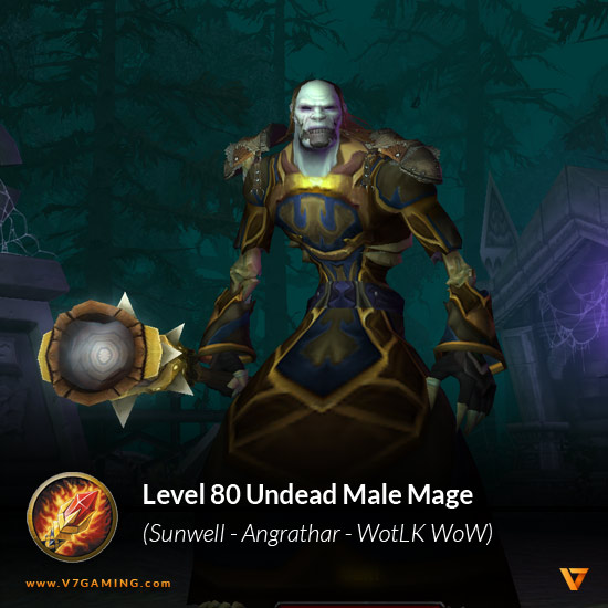 Undead Male Mage Level 80 - Sunwell Angrathar WotLK WoW